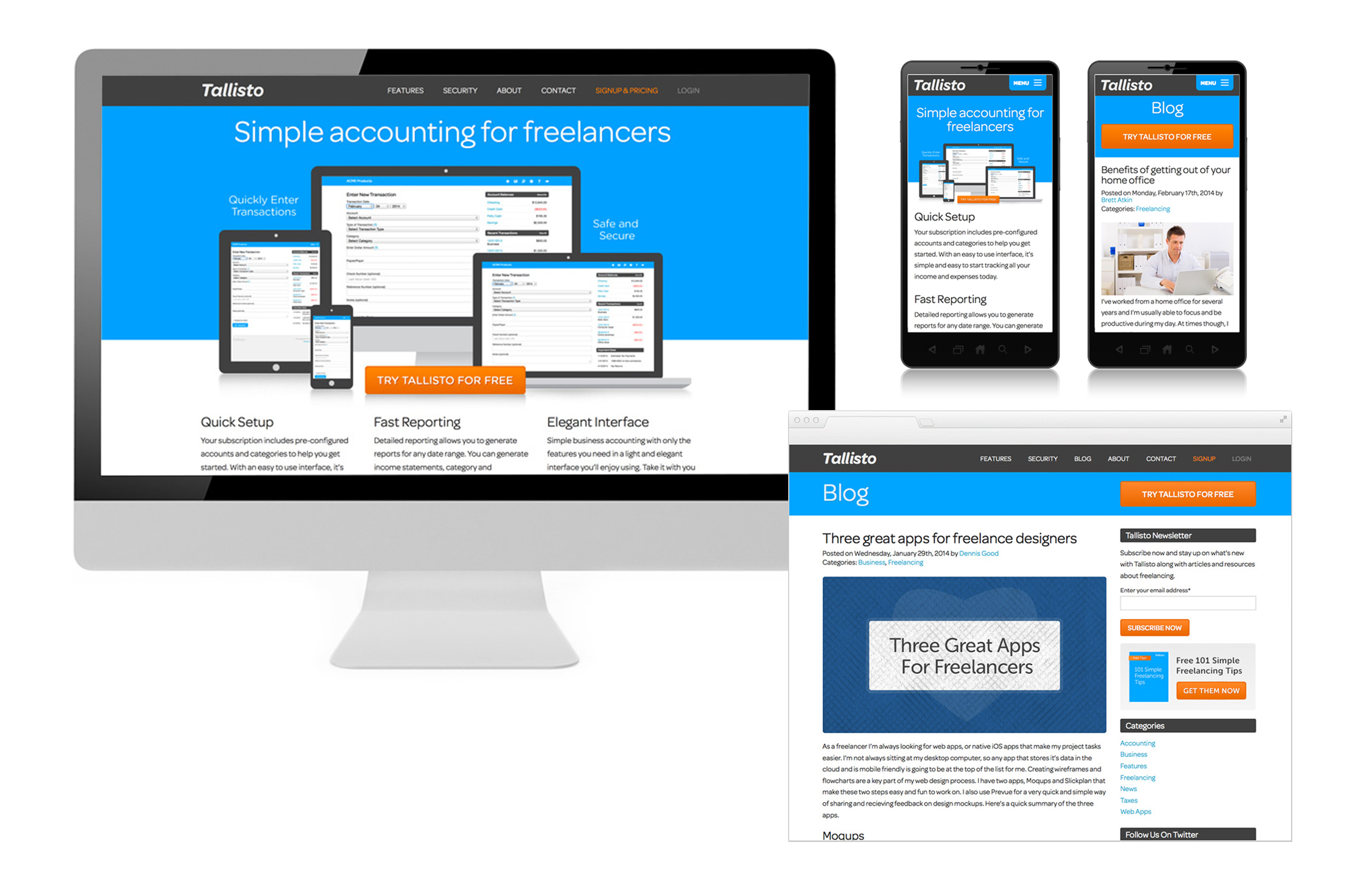 Freelance accounting service website