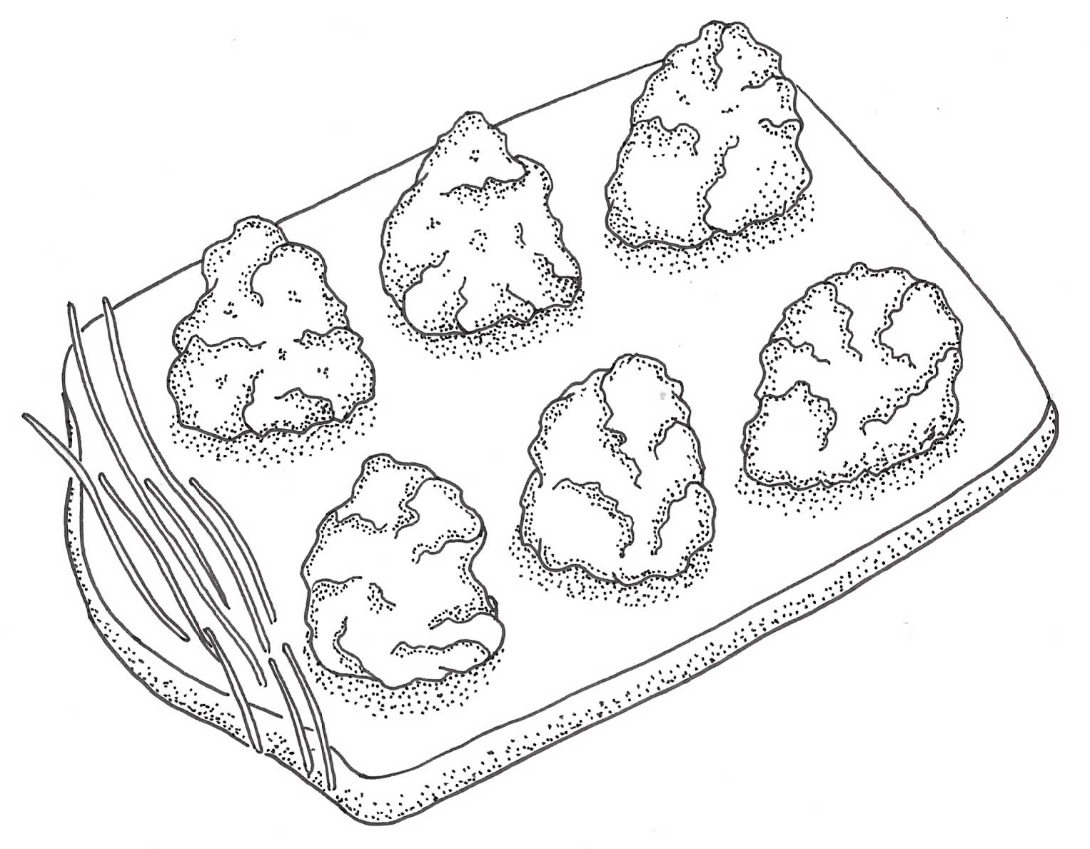 Drop biscuit illustration