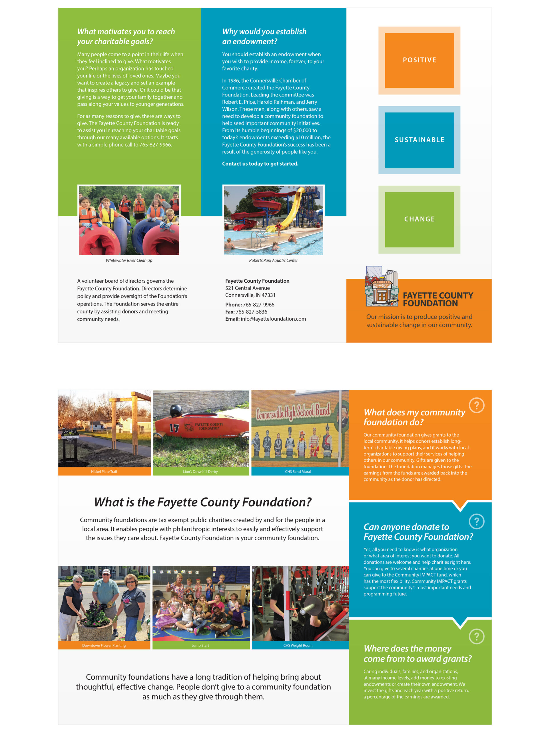 Non profit brochure