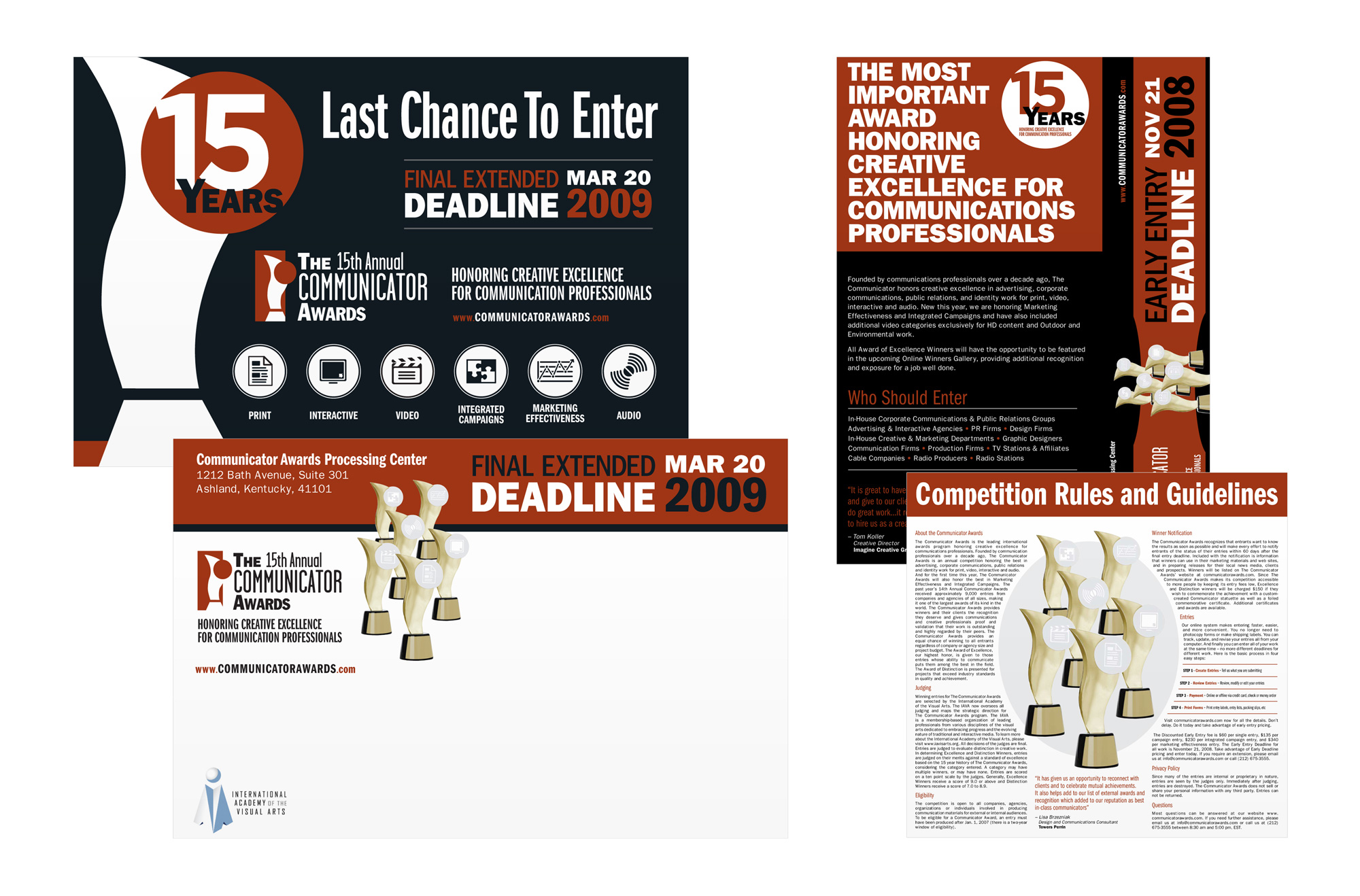 Folded design competition mailer